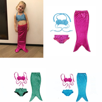 3Y 9Y Girl Mermaid Tail Custome Baby Girl Kids Mermaid Tail Fancy Green Dress Swimmable Bikini