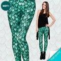 Новый 3D Печать Дракон Зеленый Зима Женщины Леггинсы Причинно Мягкая Tayt Фитнес Брюки Сексуальная Легинсы jeggings Мода Legins девушки