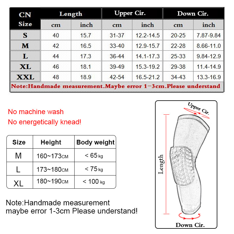 1 PC knee pad Basketball honeycomb Collision Elastic Knee brace support Breathable Compression Protective Gear Patella Foam legs