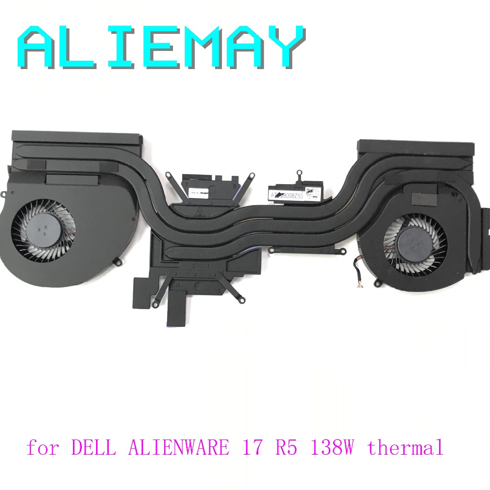 Brand new original laptop cooling model for Dell ALIENWARE17 R5 138W heatsink /w 2fans thermal module type NV1080M INTEL E1 brand new original heatsink with fan for sony vaio pro11 svp11 laptop heatsink cooler thermal module