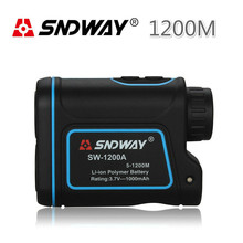 Discount! SNDWAY SW-1200A 8X 1200m LCD Screen Laser Range Finder Laser Monocular Telescope For Athletics Hunting Golf Outdoor