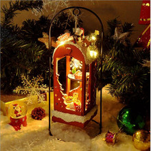 Cute Family House DIY Doll Furniture Snow Christmas Children Handmade Toy Dollhouse Kits Toys for Gifts