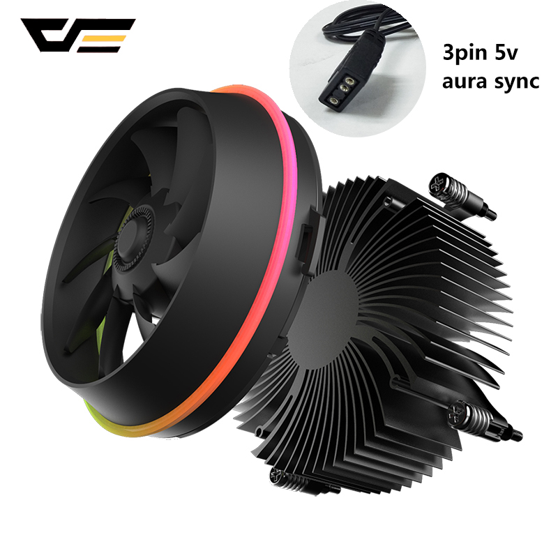 Image 2 - darkFlash Shadow CPU Cooler AURA SYNC Cooling Double Ring LED Fan PWM 100mm 4 pin Radiator for intel Core i7 LGA 115x TDP 280WFans & Cooling   -