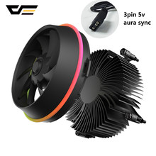 darkflash PWM CPU Cooler AURA SYNC TDP 280W Double Ring LED Fan 4pin Radiator CPU Cooling Cooler for Intel Core i7/i5/i3 Shadow(China)