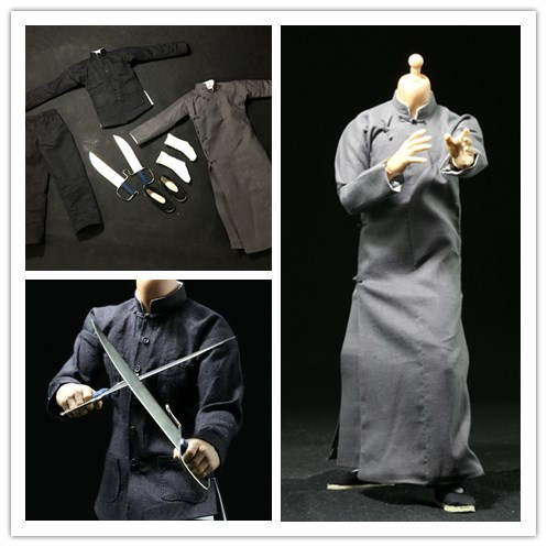 1/6 scale figure doll clothes The Grandmaster Yip Man suit for 12 Action figure doll accessories.not include doll head and body 1 6 scale comedy king of france la grande vadrouille with 2 head figure doll model 12 action figure doll collectible figure