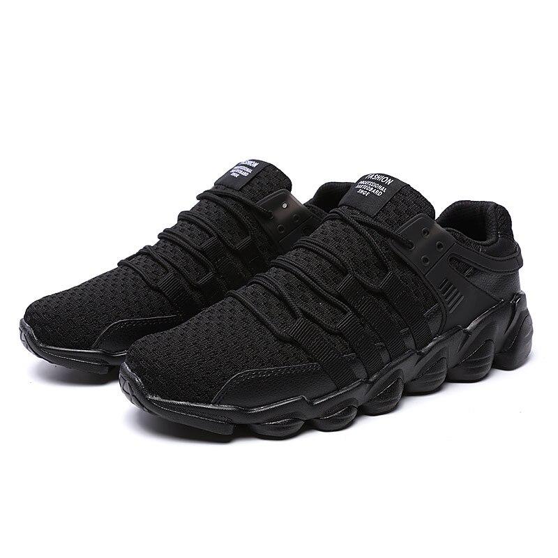 2018 Krasovki Man Fashion Casual Shoes Male Mesh Summer Breathable Soft  Black White Tenis Masculino Adult 1c996d3eddb