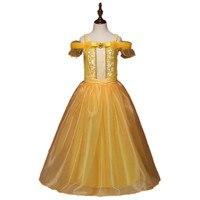 Belle Vestido de Princesa Criança Meninas Vestidos de Verão Do Partido Do Traje Vestido Roupas Roupas Roupas Beauty and the Beast DS19