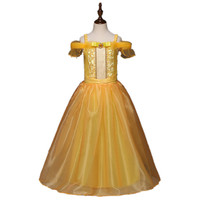 Belle Princess Dress Toddler Girls Summer Dresses Costume Party Clothing Beauty And The Beast Clothing Dress