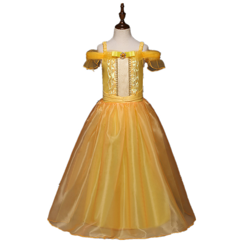 Belle Princess Dress Toddler Girls Summer Dresses Costume Party Clothing Beauty and the Beast Clothing Dress Clothes DS19