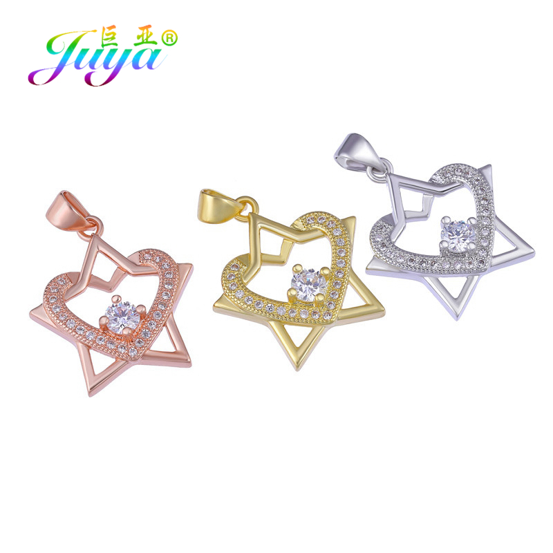 Special Section Juya Diy Charms For Bracelet Making Handmade Gold/rose Gold Love Heart Star Pendant Charms Women Men Fashion Jewelry Accessories Jewelry & Accessories