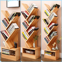 Modern Tree Storage Rack Display Bookshelf Home Decor Hanger Creative Furnishing Articles Decoration 7 TIER BROWN