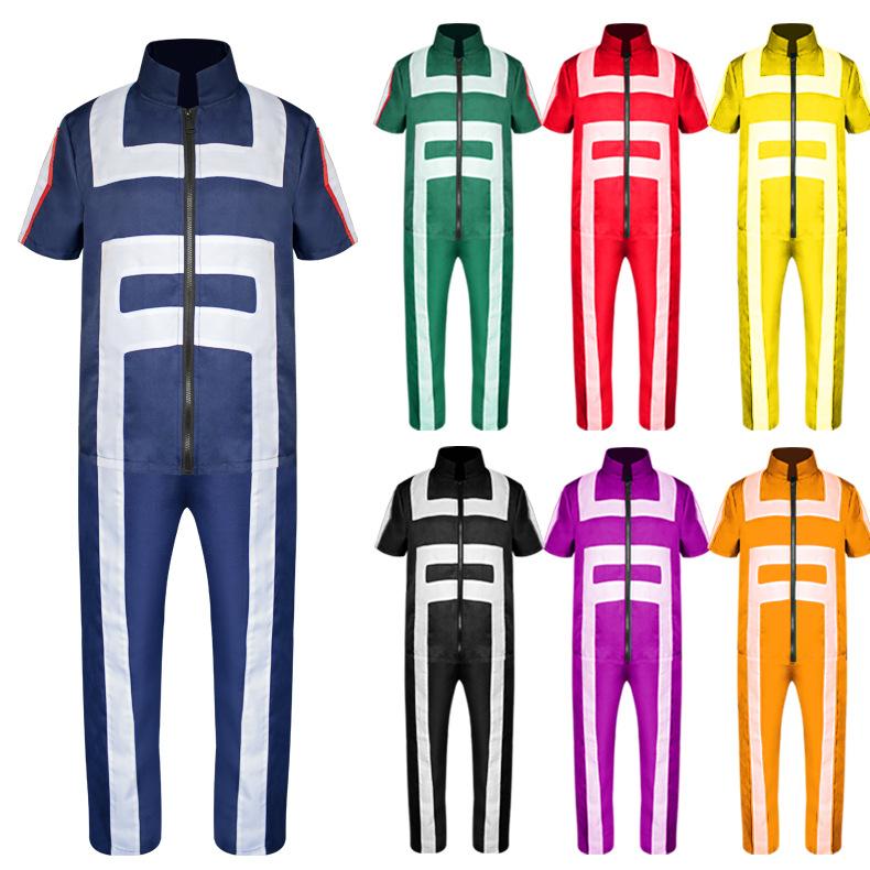 Boku No Hero Academia My Hero Academia Gym Suit High School Uniform Sportswear Outfit Anime Cosplay Costumes (Tops+Pants)