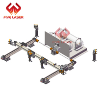 Double heads laser mechnical parts XY linear guide motion kit 1600*1000mm working area for laser engraver DIY