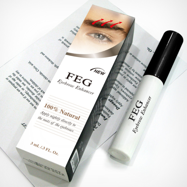 5118edb0dee Eyebrow Enhancer Waterproof For Eyebrow Growth Makeup Brand FEG Make up Eye  Brow Pencil Treatments Longer Thicker Cosmetics Set