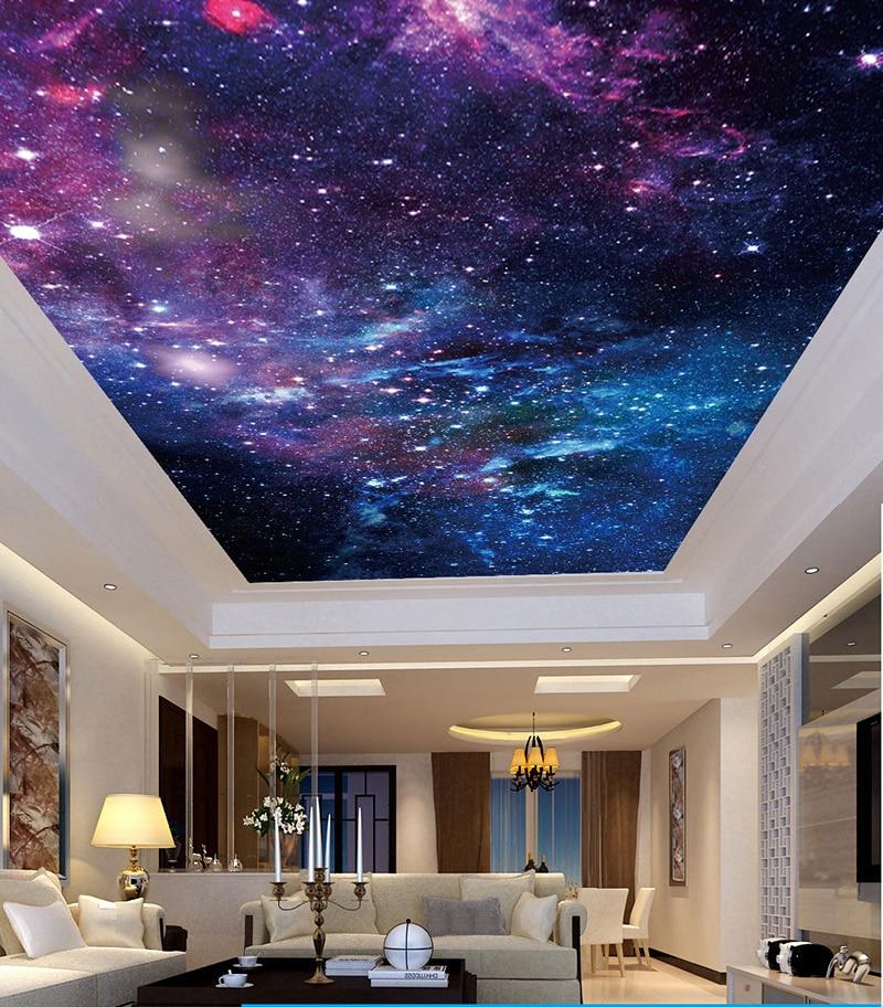 Bacaz Custom Photo 3d Ceiling Murals Wallpaper Space