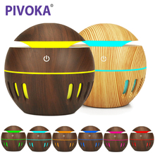PIVOKA USB Aroma Essential Oil Diffuser Ultrasonic Cool Mist Humidifier Air Purifier 7 Color Change LED Night light Home