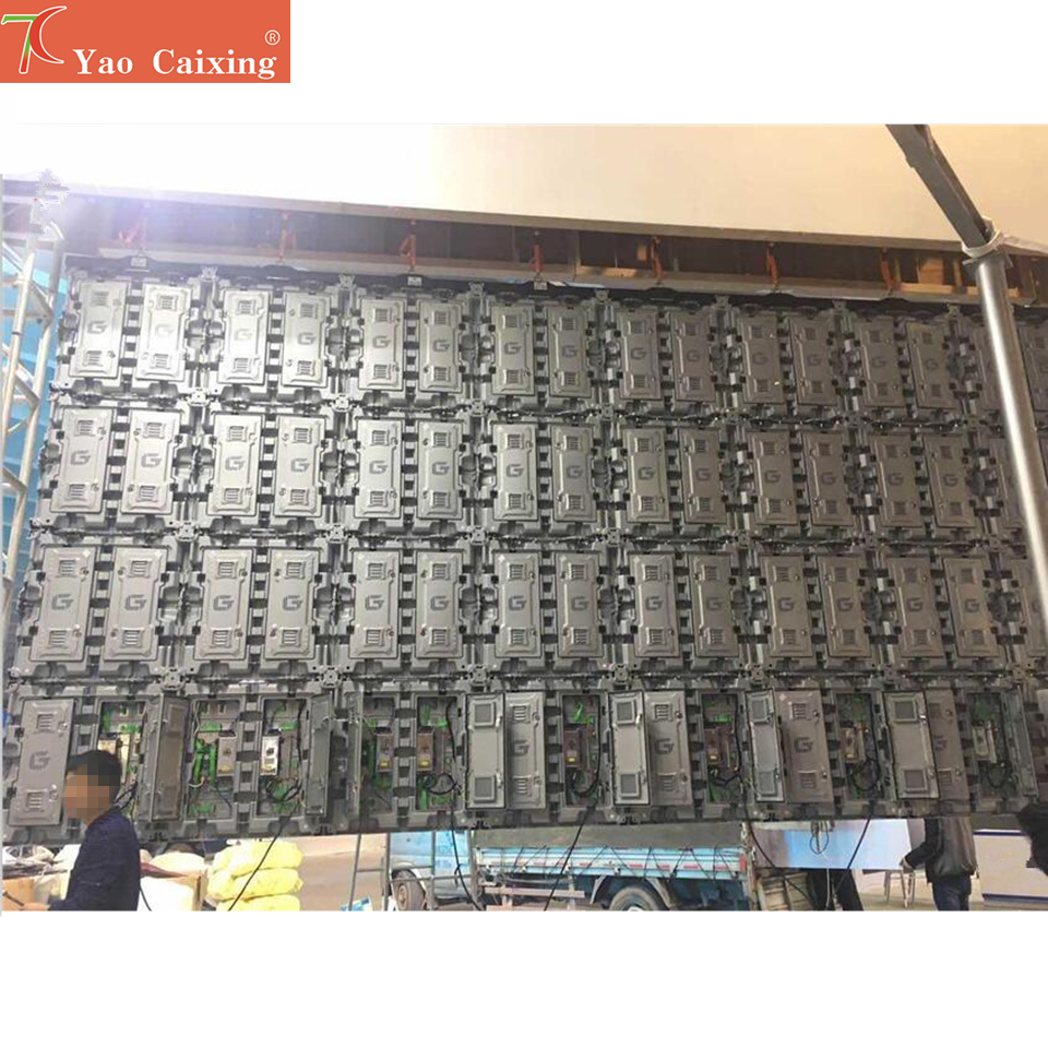Outdoor rgb P5 pixels 960*960mm waterproof smd 3in1 full color LED rental cabinet screen hub75 advertising media LED Display