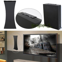 Black Erect Vertical Stand Wall Mount Bracket Stand Holder for Xbox One X Game Console