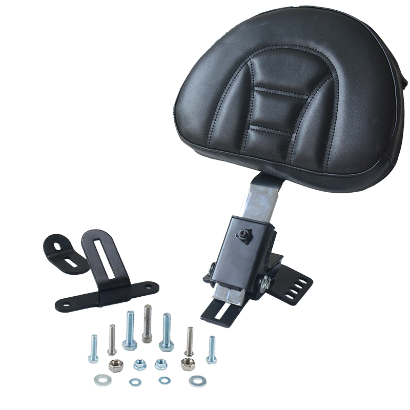 Motorcycle Adjustable Plug In Front Driver Rider Seat Backrest Kit For Harley Touring Electra Road Street Glide Road King 97-17 motorcycle front rider seat leather cover for ktm 125 200 390 duke
