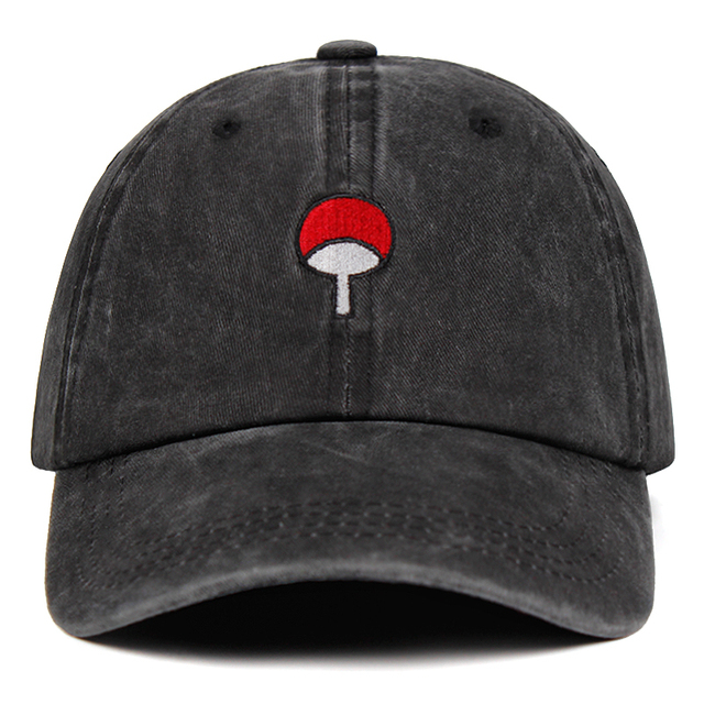 Denim Hat Uchiha Family Logo Embroidery Baseball Caps Snapback