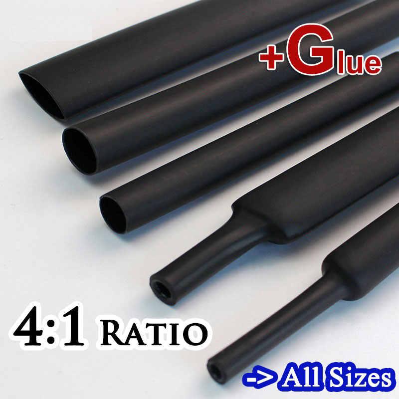 4mm 6mm 8mm 12mm 16mm 18mm 20 มม.24 มม.32 มม.4:1 ความร้อนหลอดกาวDual Wallกาวท่อแขนชุดสายไฟ
