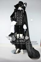 Free Shipping Custom Made Black Butler Anime Cosplay Ciel Party Costume With Hat