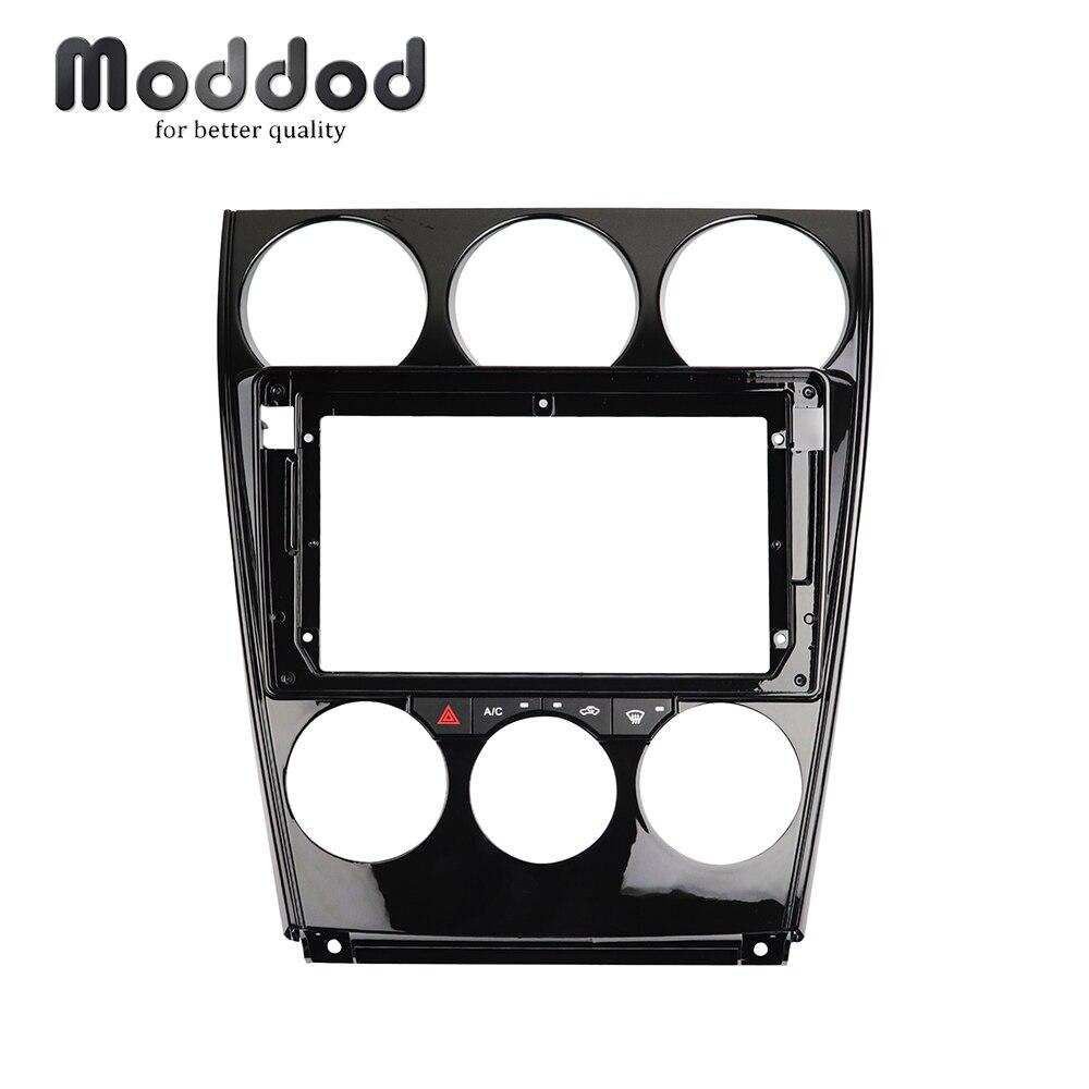 Autoradio Fascia pour Mazda 6 2004-2016 9 pouces garniture d'installation de tableau de bord Kit de réaménagement cadre Surround CD DVD GPS lunette