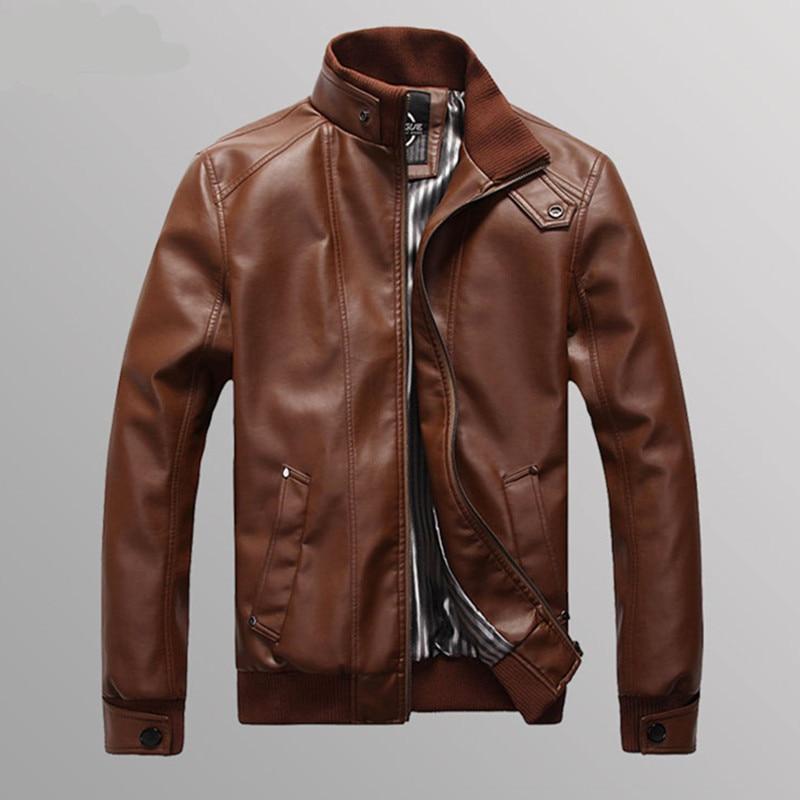 2018 Muška PU kožna jakna Moda poprečna Slim Fit kožne jakne za - Muška odjeća