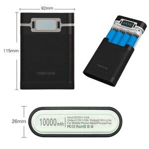 Image 5 - FELYBY taşınabilir güç bankası kutusu 18650 pil şarj aleti mobil güç kutusu ile LED ışık çift USB çıkışı ile cep telefonu için