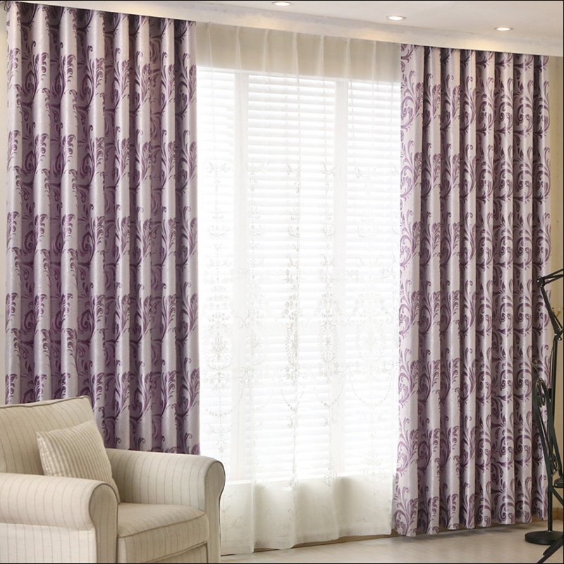 2019 Newest Design Jacquard Curtain For Living Room Blackout Tulle Cortinas Salon Bedroom Home Office Thick Curtain Custom Made