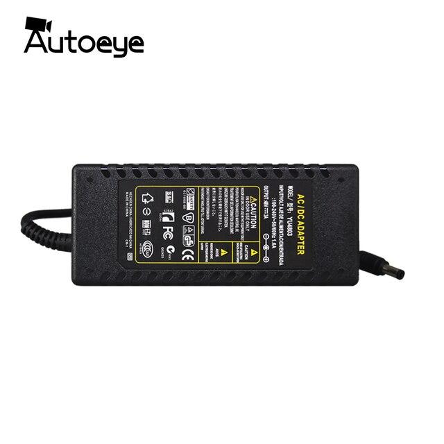 Autoeye DC אספקת חשמל 48 V 3A מתאם מטען עבור CCTV POE מצלמה