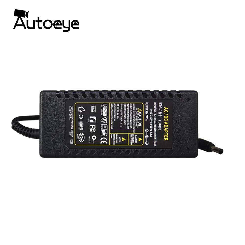 Autoeye DC alimentation 48 V 3A adaptateur chargeur pour caméra CCTV POE