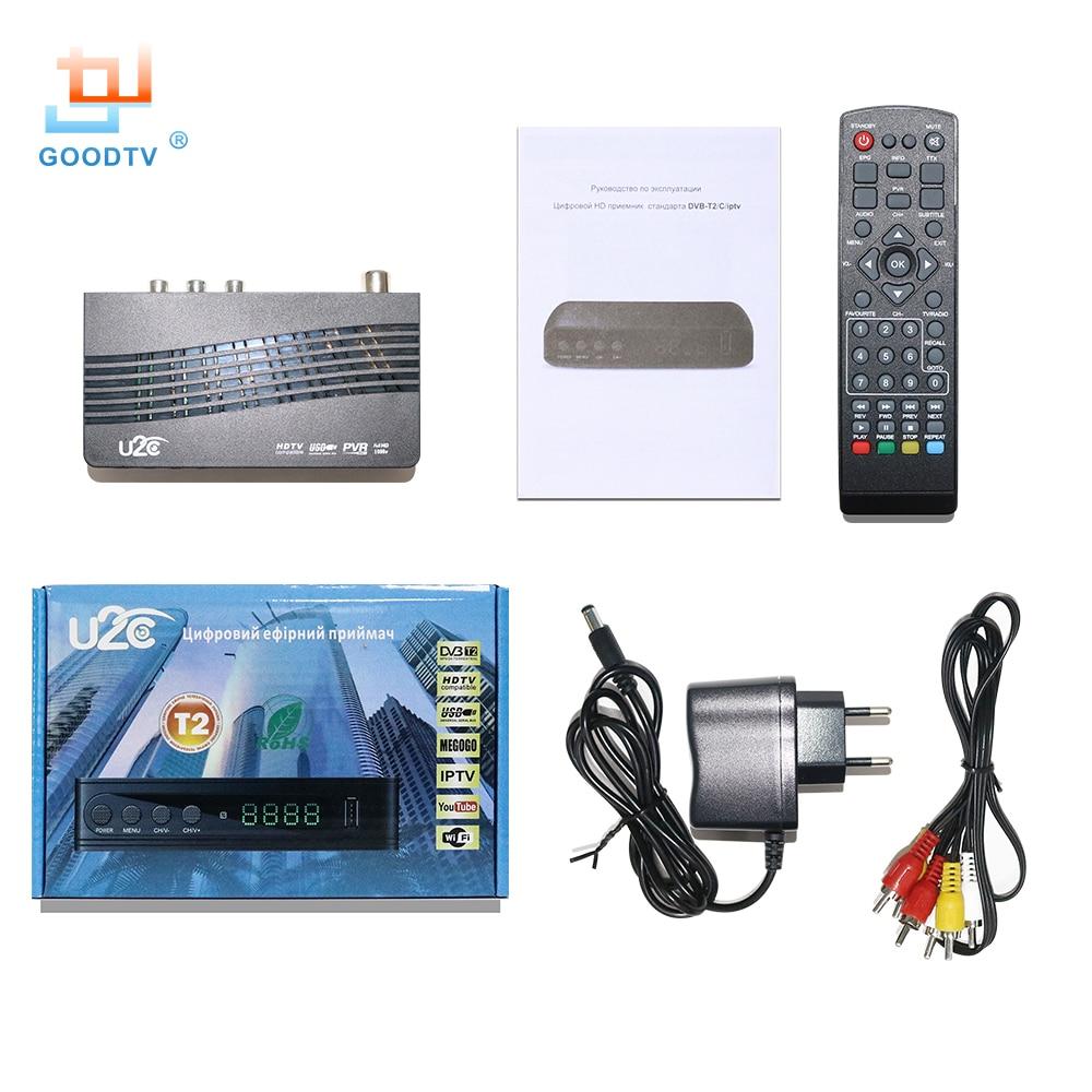 Tv Box U2C Tv vevőkészülék Dvb-t2 DVB T2 Digitális videó műsorszóró földi vevőkészülék DVB T / T2 készlet Top Box TV készülék