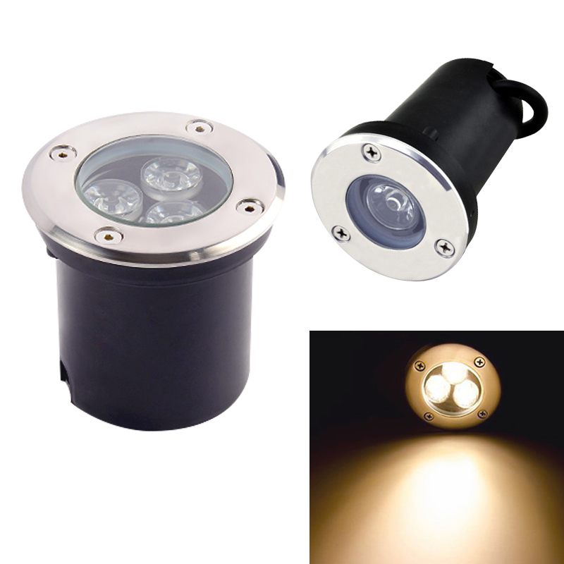 Led Underground Lamps Lights & Lighting Ac85-265v Waterproof Led Light Garden Underground 5w 3w Ip67 Outdoor Buried Garden Path Spot Recessed Inground Lighting Dc12v