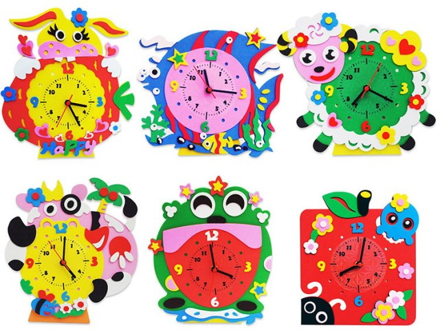 DIY Owl Clocks for Kids
