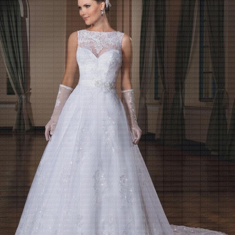 Black Wedding Dress With Detachable Train: 2019 Boat Neck A Line With Belt Tank Detachable Train Lace