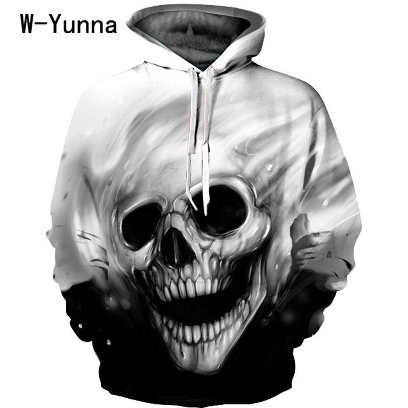 El más nuevo cráneo impresión 3D sudadera manga completa invierno otoño Hoodies Sporting Tracksuits Couplewear mujeres/hombres sudaderas