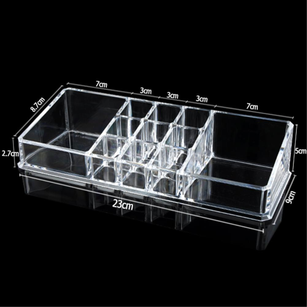 Hot 11 Grids Lipstick Cosmetic Display Stand Jewelry Box Make up Storage Holder Multifunction Thick Clear Acrylic Boxes EQC355