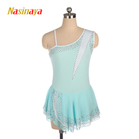 Nasinaya Figure Skating Dress Customized Competition Ice Skating Skirt for Girl Women Kids Patinaje Gymnastics Performance 414