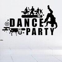 Dance Party Rock Band Music Decalque Nome Adesivos de Parede Decalques de Parede Cartaz Pub Ktv Casa Decoração Etiqueta Do Carro