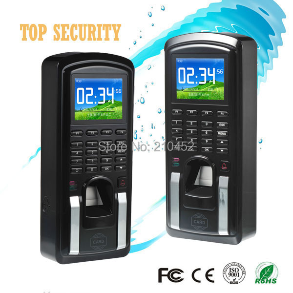 Free shipping fingerprint time attendance and access control TCP/IP fingerprint and 125KHZ RFID card door access control panel biometric fingerprint access controller tcp ip fingerprint door access control reader