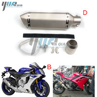 Universal Motorcycle Modified Scooter Akrapovic Exhaust Muffle Pipe For Honda GY6 CBR125 CBR250 CB400 CB600 YZF