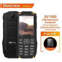Blackview Original BV1000 Russian Keyboard 2.4″ Rugged Mobile Phone IP68 Waterproof Dual SIM 3000mAh Mini Cellphone Flashlight
