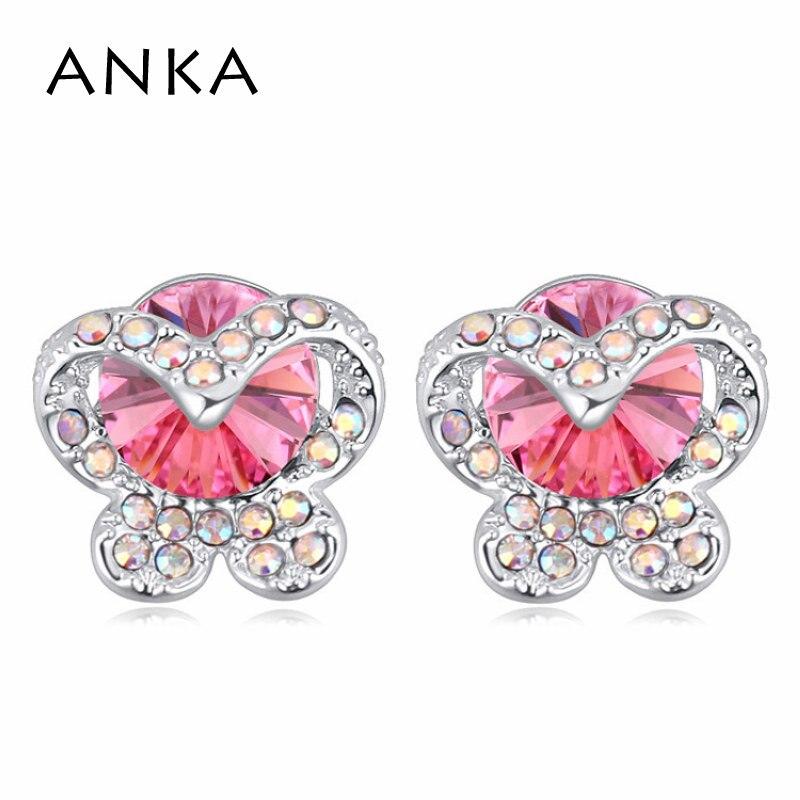 1489f830e7bce ANKA venda hot belas jóias brincos de cristal do parafuso prisioneiro para  as mulheres da borboleta de cristal da forma brinco Cristais de Swarovski   113989