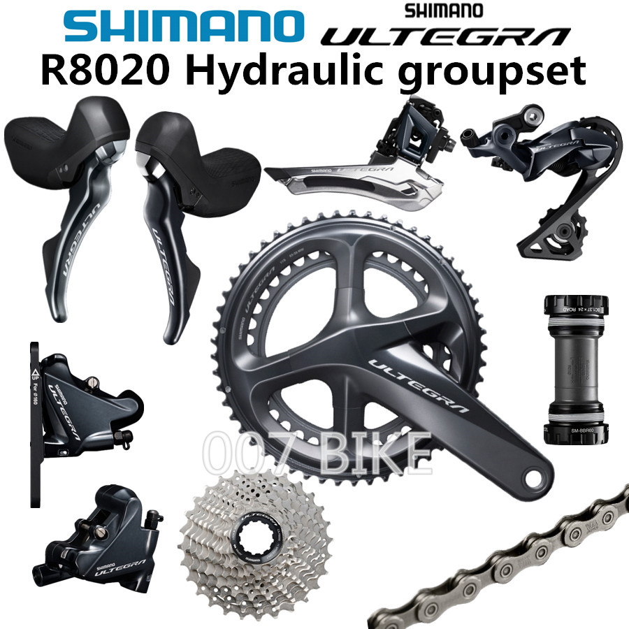 dab5095e4ca SHIMANO ULTEGRA R8020 Groupset R8020 R8000 Hydraulic Disc Brake Derailleurs  ROAD Bicycle R8070 shifter 50-34T 52-36T 53-39T