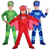 2018 NEW Costume Masks Catboy Owlette Gekko Costume Birthday Supplies Party Favors Kids PJ Superhero Halloween