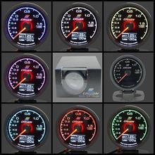 Gauge Turbo-Boost-Gauge Greddi-Meter Sensor Lcd-Display with 62mm 7-Light Colors --Y