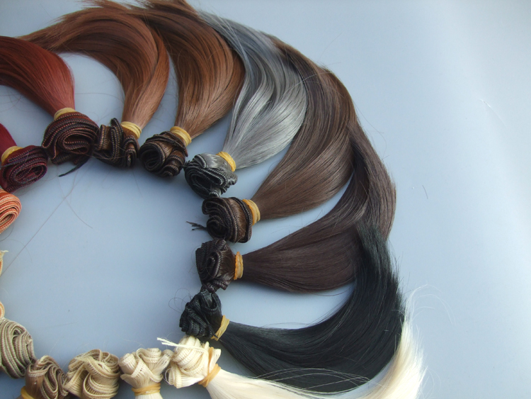 15x100cm DIY Curly Wavy Wig Hair for 1//3 1//4 1//6 BJD SD Dolls White