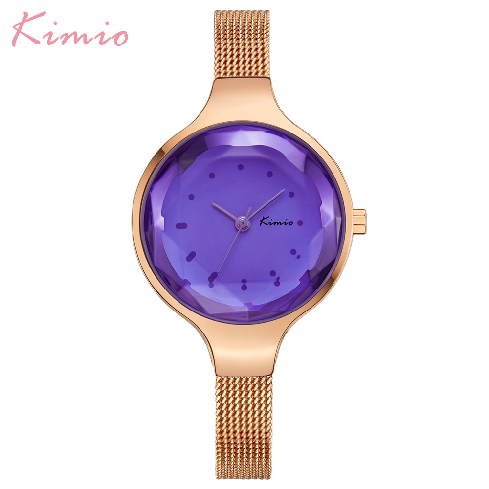 Kimio Simple Fashion Armband Dames Horloges Roestvrij Staal Mesh Riem - Dameshorloges