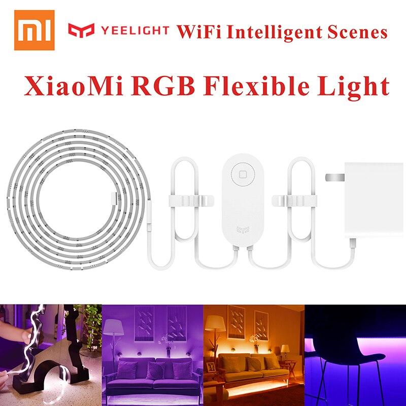 Hot Original Xiaomi Music Yeelight Smart home Phone App wifi light strip 2M 16 Million Color